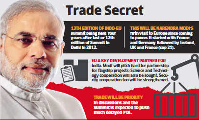 PM Narendra Modi to hardsell pet projects like Make In India at European Union summit