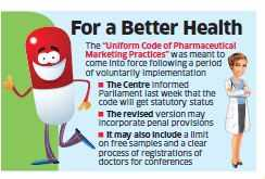 Pharma practices code rollout deferred again