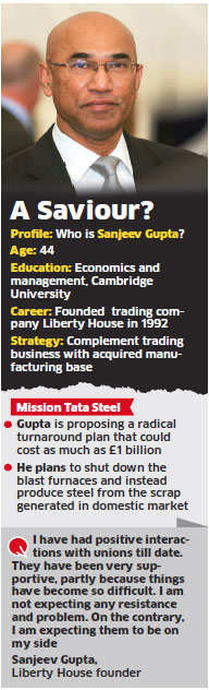 Liberty House's Sanjeev Gupta may 'rescue' Tata Steel's UK business