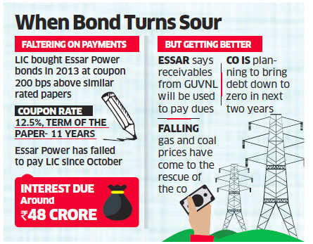 LIC may sue Essar Power for missing interest payments on 11-year bonds