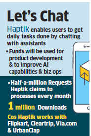Haptik raises undisclosed sum in Series B funding from Times Internet