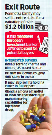Hyderabad-based drugmaker Gland Pharma attracts bids from Torrent Pharma and Baxter