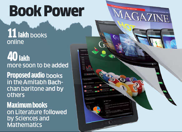 Digital library to include audio books read out by celebrities