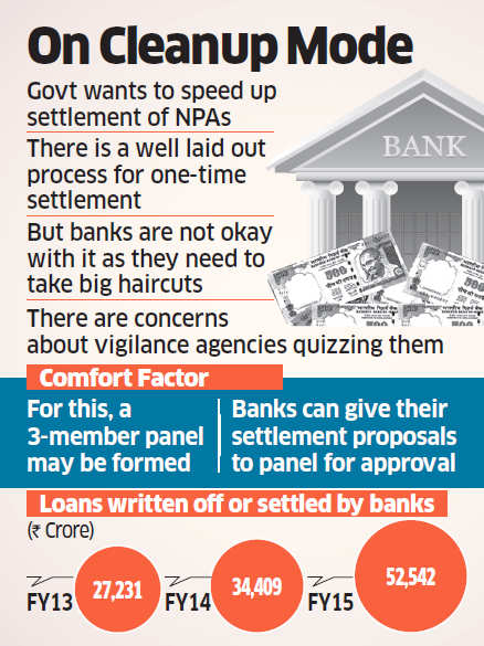 Government may form panel to okay PSBs bad loan settlement plans