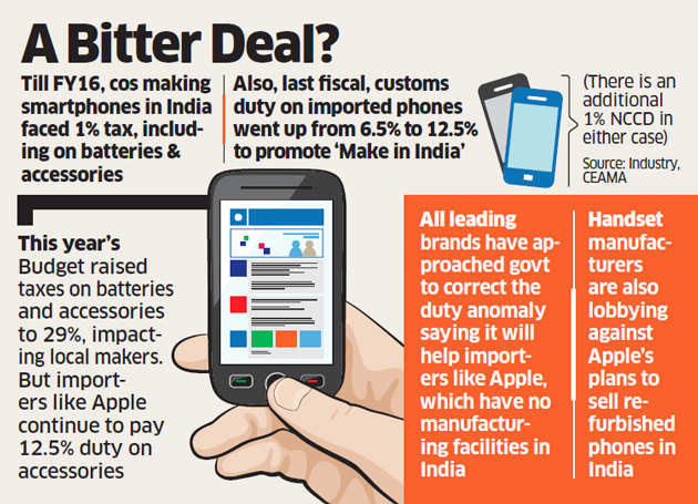 Samsung, Micromax miffed over levy giving Apple edge; demand parity
