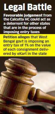 Interim relief for Flipkart: Calcutta HC stays entry tax on West Bengal e-shipments
