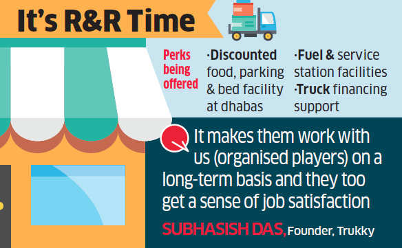 Truckers in for a royal treat from logistics startups like Lobb, Trukky and BlackBuck