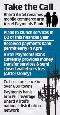 Airtel rebrands Airtel M-Commerce Services as Airtel Payments Bank; to launch in Q2 FY17