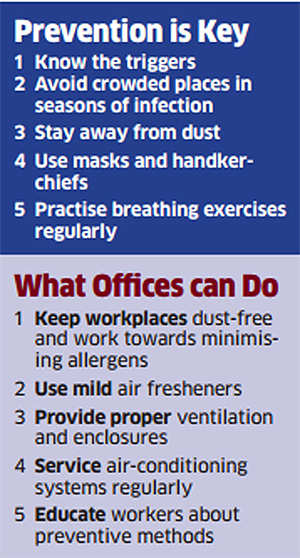 Suffer from asthma attacks at work? Here's what you should do