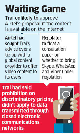 Bharti Airtel may not get TRAI nod to offer foreign company's exclusive video content to some users