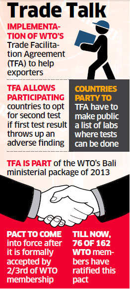 Wto Pact May Come To Rescue Of Export Rejects The Economic Times