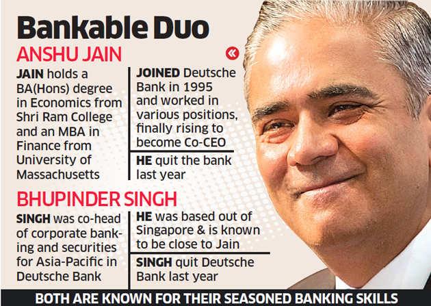 Former Deutsche Bank co-chief Anshu Jain, ex-colleague Bhupinder Singh to launch NBFC in India