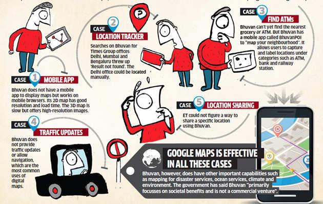 Matchup: India's 'patriotic' Bhuvan vs Google Maps
