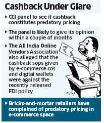 CCI to decide on cashbacks given by online payment platforms like Paytm and Mobikwik