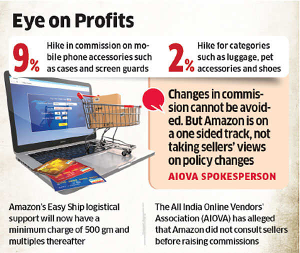 Amazon India charges sellers more