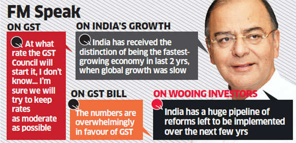 GST rate to be moderate, bill likely in monsoon session: Arun Jaitley