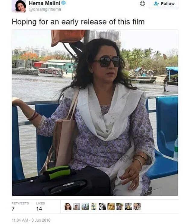 BJP MP Hema Malini tweets film shooting photos as Mathura burns