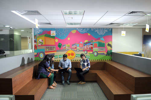 How snapdeal office is keeping up with changing millennial for Office design for millennials