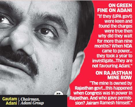 Jairam Ramesh's facts not in order, argument on the basis of 'political convenience': Gautam Adani