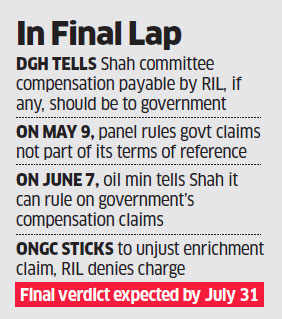 Gas migration row between ONGC- Reliance: Government says Shah Panel can decide on compensation