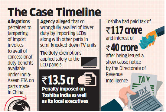 Tax violation case: Toshiba's Japan executives can't be penalised under Customs Act, says Settlement Commission