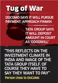 DoCoMo planning to move PMO and RBI regarding its dispute with TATA