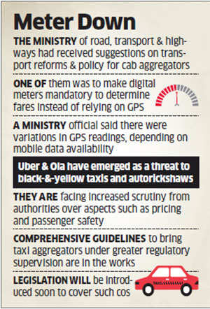 States to take call on digital meters for Ola, Uber taxis