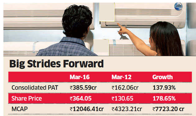 Voltas drawing up plans to double profits in four years