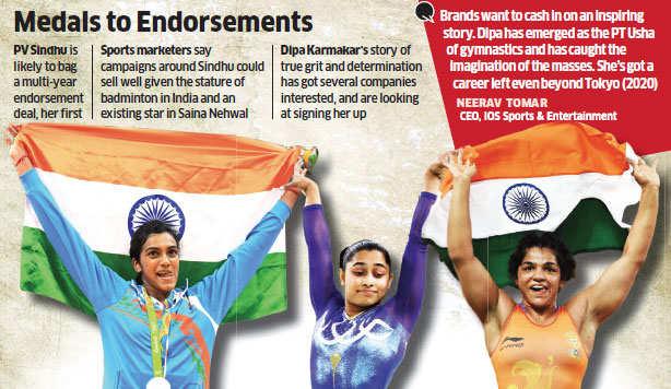 Brands make beeline for Olympic stars Dipa Karmakar, Sakshi Malik and PV Sindhu