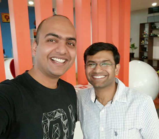 All smiles! When Xiaomi India head & redBus co-founder met to share their startup stories