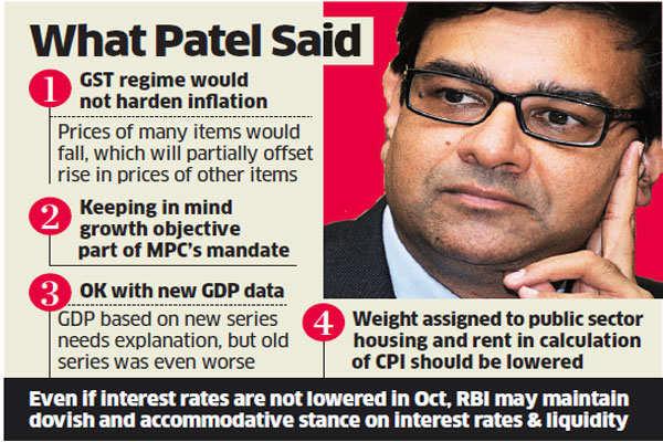 RBI Governor Urjit Patel downplays inflation risk, harps on growth