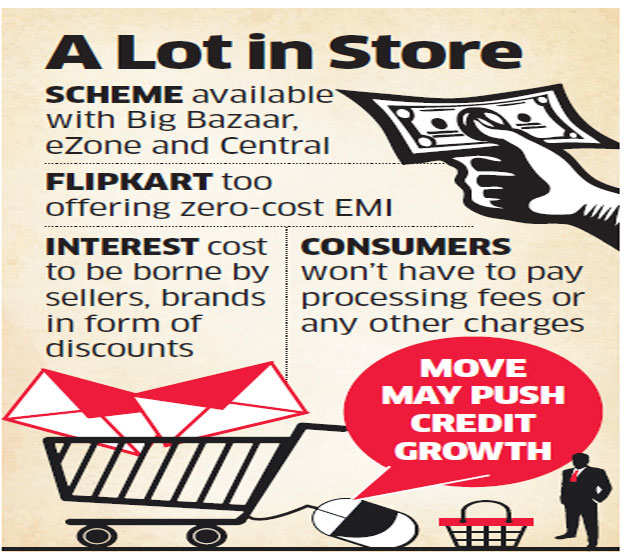 Retail outlets, online shopping sites, banks bring back zero-cost EMIs