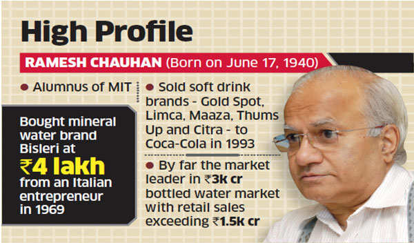 Bisleri's Ramesh Chauhan may rope in a professional chief executive to steer the company
