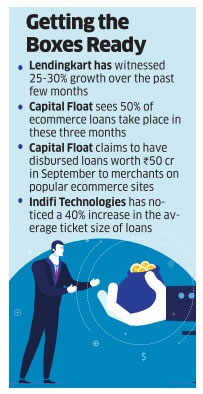 E-sellers get a lending hand to stock up goods
