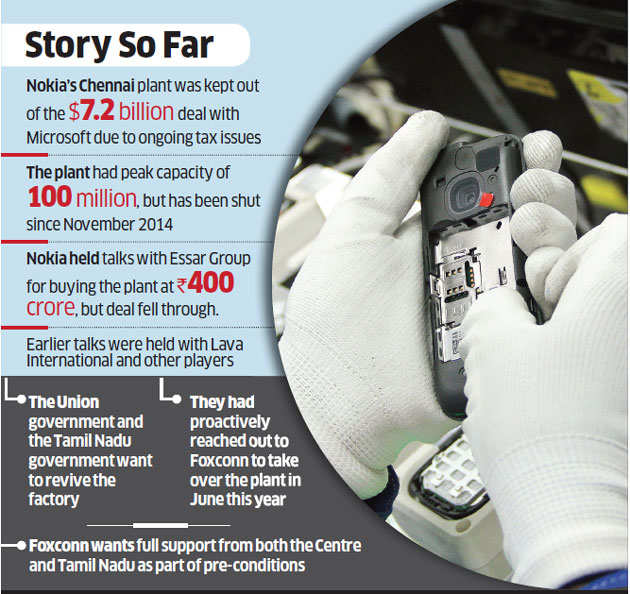 Foxconn, Nokia agree to revive Chennai plant