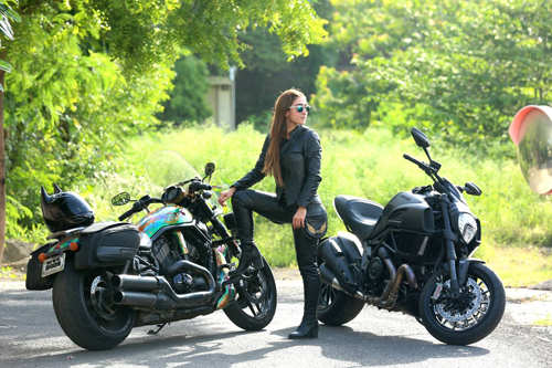 Meet Maral Yazarloo: The woman who owns four superbikes including a Harley & a Ducati!