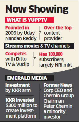 US private equity giant KKR to invest $50 million to buy stake in YuppTV