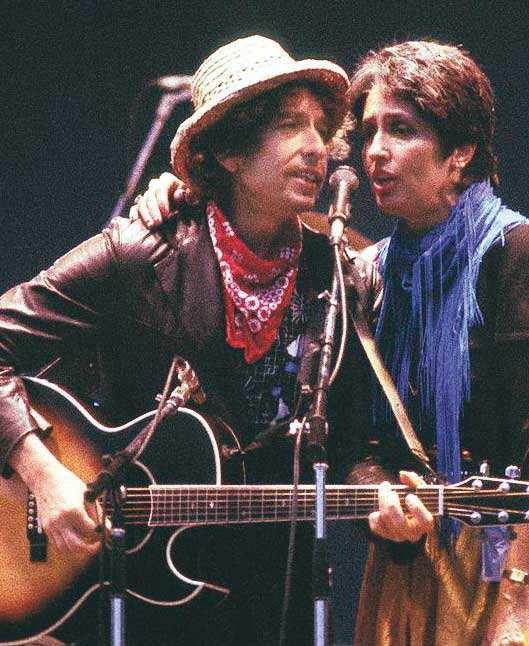 The poet's poet: 'Queen of folk' Joan Baez and Bob Dylan