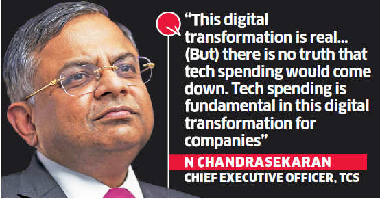 Indian IT companies tackling growth rates but ready to take advantage of changes: N Chandrasekaran