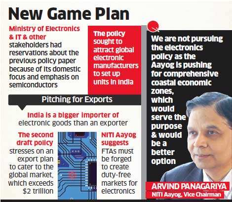 Electronic Products Policy will now focus on exports: Arvind Panagariya
