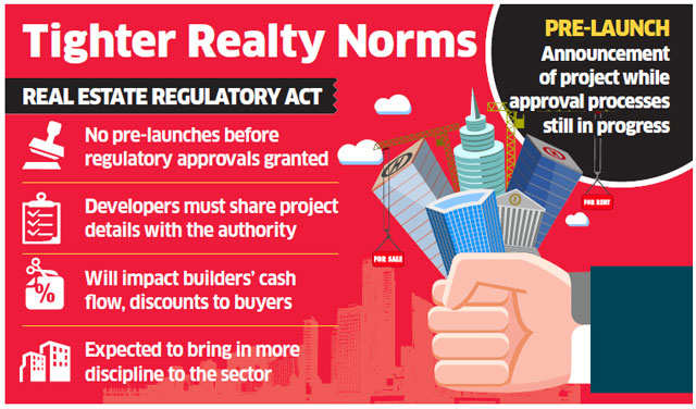RERA may hit realtors' pre-launch revenues