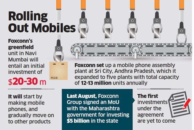 Foxconn's next India facility to be in Navi Mumbai