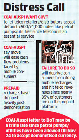 Demonetisation: Telecom companies dial govt to seek policy leeway to accept defunct notes