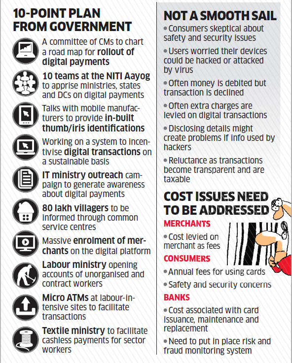 Government's effort to move India towards digital payments era