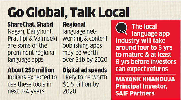 Regional language apps all the rage, to have 250 million users in next 3 years