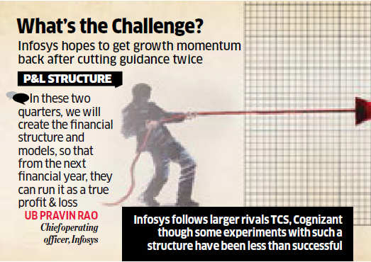 Infosys horizontal delivery heads to operate under profit & loss responsibilities