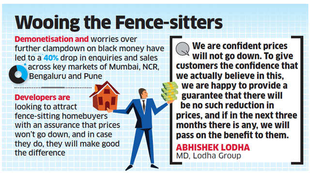 Will compensate buyers if property value falls, assure builders