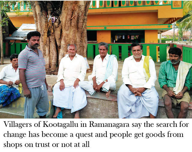 Ramanagara district in Karnataka hit with drought in crop and cash