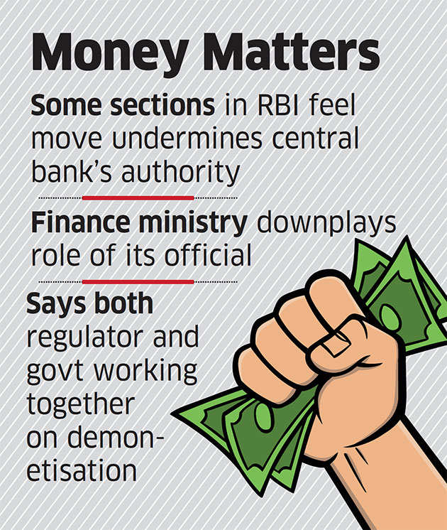 Finance Ministry sends joint secretary to coordinate RBI cash operations