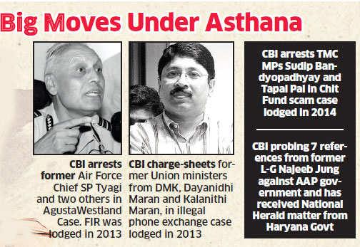Unrelenting CBI chief Rakesh Asthana has more netas in crosshairs